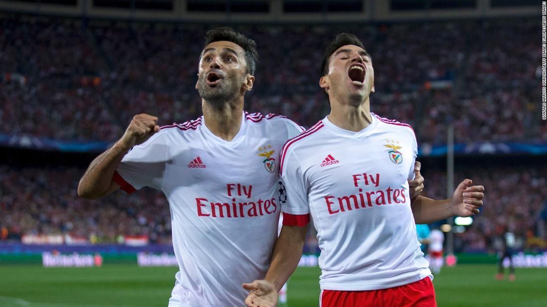Benfica came from behind to claim an impressive 2-1 win at Atletico Madrid. The home side took the lead through Angel Correa but goals from Nicolas Gaitan and Goncalo Guedes sealed the points for Benfica.
