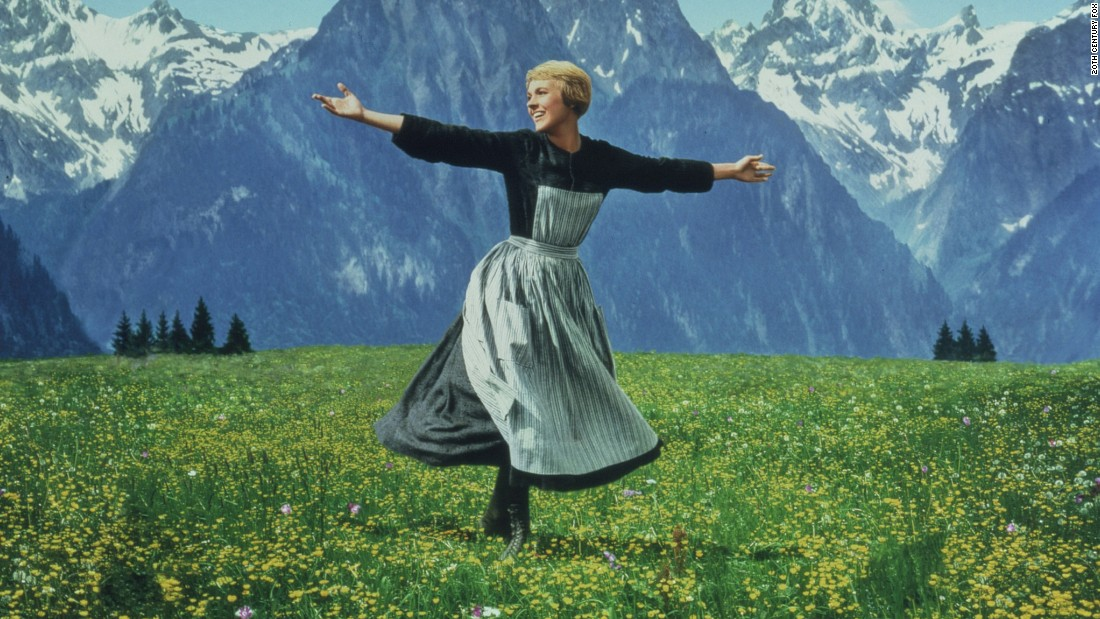"Andrews plays the iconic Maria von Trapp in 1965's ""The Sound of Music."""
