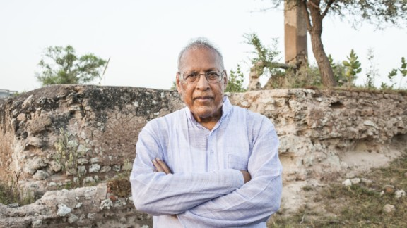 Portrait of Dr. Bhagwati Agrawal. Pahadsar village near Pilani in Rajasthan, India. September 05, 2015.