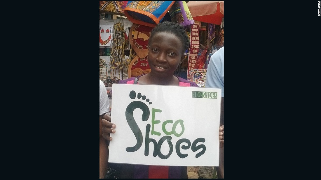 Social entrepreneur Mabel Suglo's Eco-Shoes Project employs artisans with disabilities to manufacture shoes from recycled tires and textiles, creating employment and providing a sustainable market for waste products.