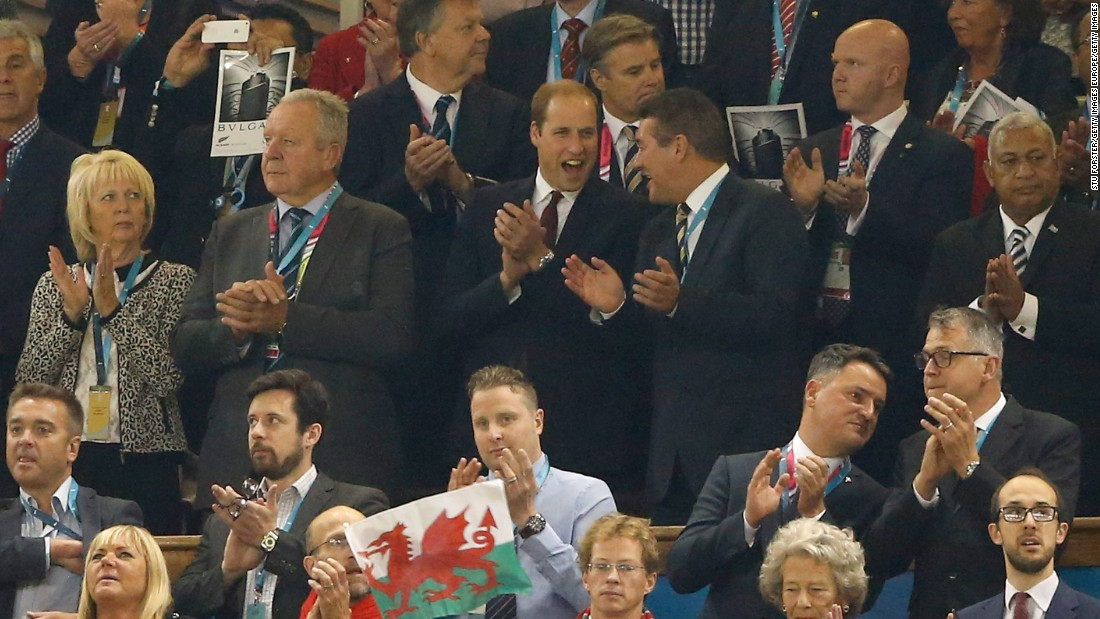 Prince William was in town to watch his beloved Wales face Fiji in the Rugby World Cup.