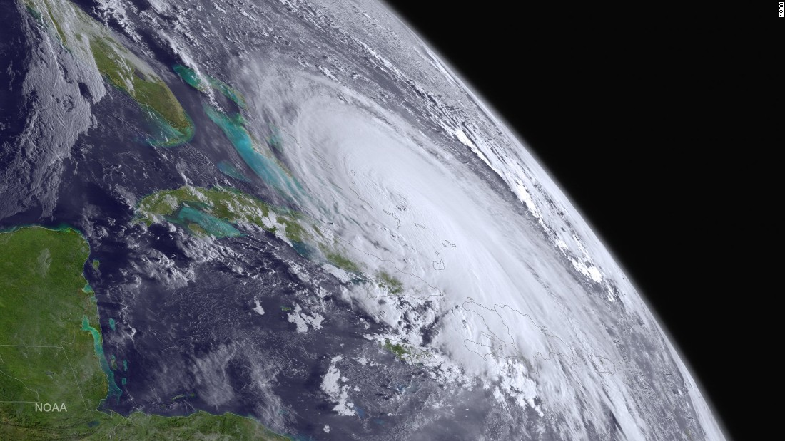 "A satellite image shows <a href=""http://www.cnn.com/2015/10/01/us/hurricane-joaquin/index.html"" target=""_blank"">Hurricane Joaquin</a> in the Atlantic Ocean on Thursday, October 1."