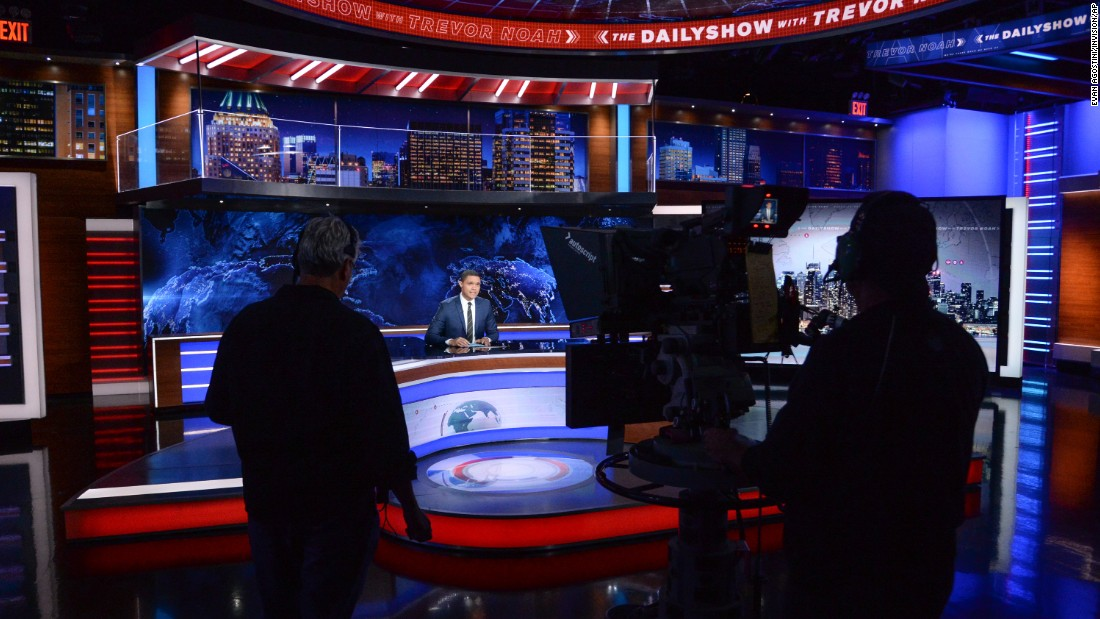 "Trevor Noah tapes an episode of ""The Daily Show"" on Tuesday, September 29. It was <a href=""http://money.cnn.com/2015/09/29/media/trevor-noah-daily-show-premiere/"" target=""_blank"">the first week on the job</a> for Noah, the 31-year-old comedian who is taking over for longtime host Jon Stewart."