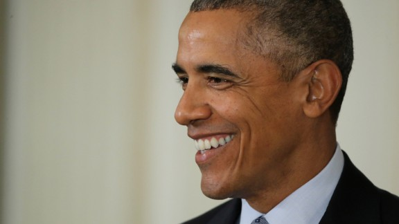 President Barack Obama smiles during a news conference at the White House on October 2, 2015.