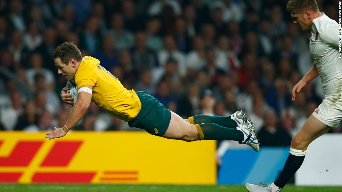 Australia's Bernard Foley was flying high at Twickenham on Saturday, scoring 28 points in his side's 33-13 win over England at the Rugby World Cup.