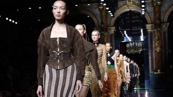 At Balmain, our October guest editor Olivier Rousteing sent supermodel after supermodel (Joan! Gigi! Kendall! Doutzen!) down the runway in the most Instagram-friendly show of the season.