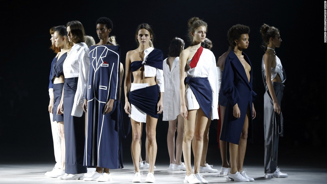The clothes at Jacquemus were a mix of deconstructed menswear.