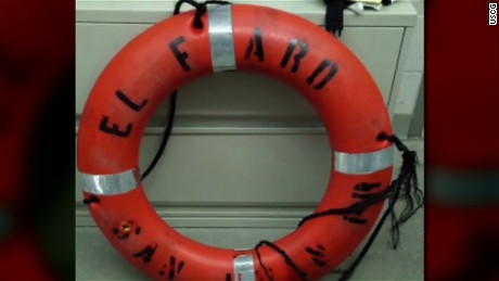 Life ring from missing cargo ship El Faro found