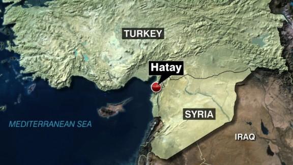 Turkey Syria border map