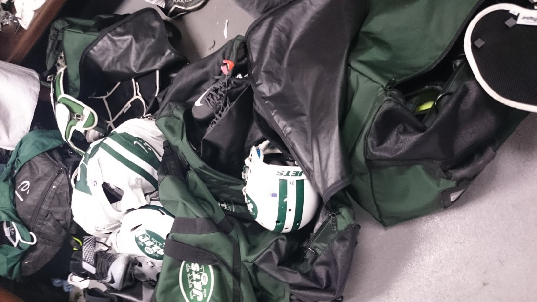 The New York Jets didn't travel light for their trip to Britain. They even brought their own toilet roll.