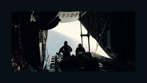 A Coast Guard crew searches for survivors of the El Faro cargo ship.