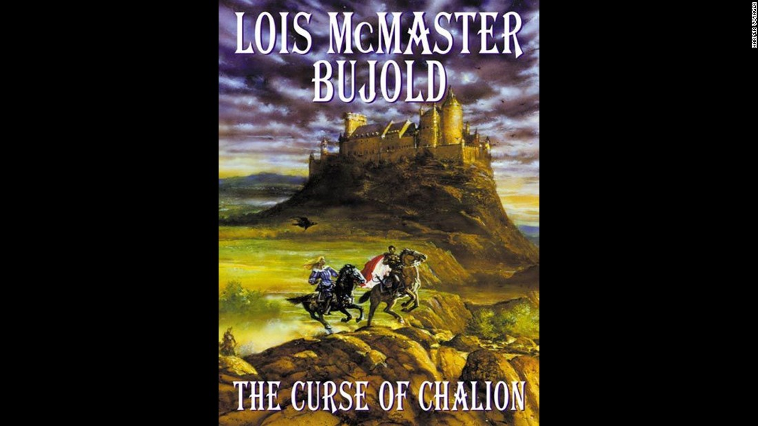 "Escaping slavery, Cazaril returns to the royal household to tutor a princess whose brother is heir to the throne in ""The Curse of Chalion"" by Lois McMaster Bujold. The people who enslaved him are now in positions of power, and sinister forces are also at work against the royal household."