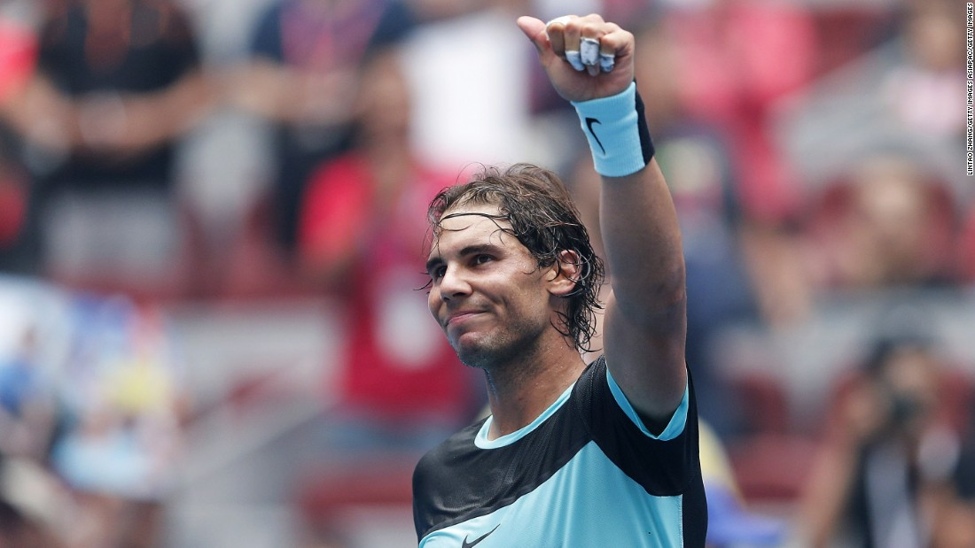 Nadal eventually triumphed 6-4 6-4 and next has a tougher task on paper, playing big-serving Canadian Vasek Pospisil.