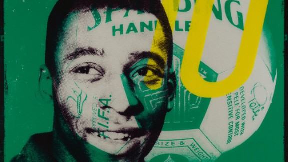 """Loius Sidoli's work is named after Warhol's famous quote about Pele. The artist revisited his """"15 minutes of fame"""" quote to predict """"15 centuries"""" of acclaim for the Brazilian, such was his talent."""