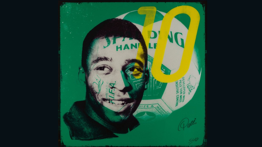 "Loius Sidoli's work is named after Warhol's famous quote about Pele. The artist revisited his ""15 minutes of fame"" quote to predict ""15 centuries"" of acclaim for the Brazilian, such was his talent."