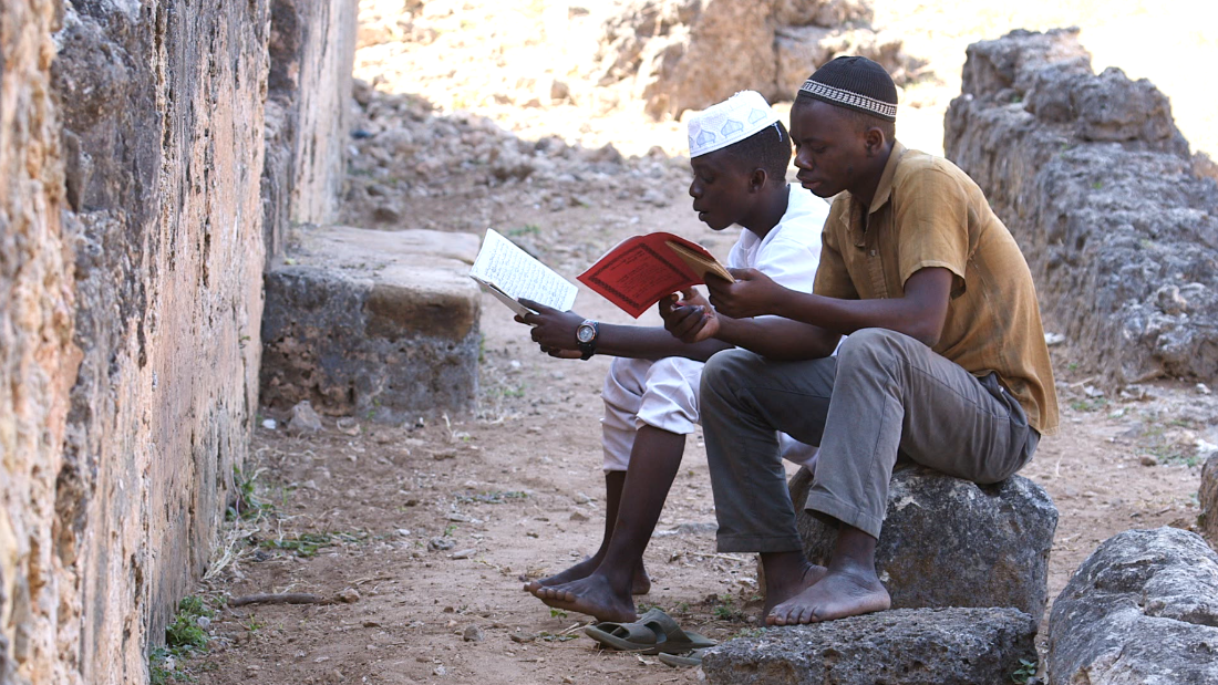 To this day, young Tanzanians are drawn to the Great Mosque at Kilwa to recite Quranic verses.