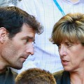 Mark Webber with Ann