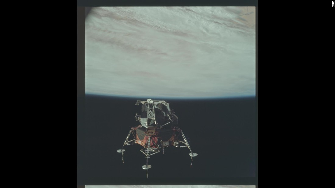 Apollo 9 tested a lunar module above Earth to make sure it was ready to carry astronauts on a future trip to the moon.
