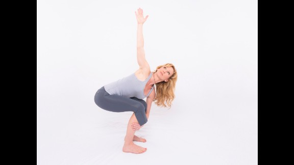After starting with arms in front, you can twist to each side  and hold for five breaths, using your respiration to facilitate the twist.