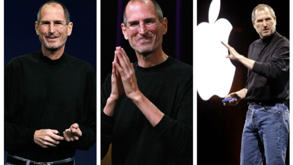 """Information overload can lead to """"decision fatigue."""" Some famous figures have chosen to wear similar clothes each day to reduce the decisions they have to make.<br />Steve Jobs famously favored a black turtleneck, jeans and sneakers."""