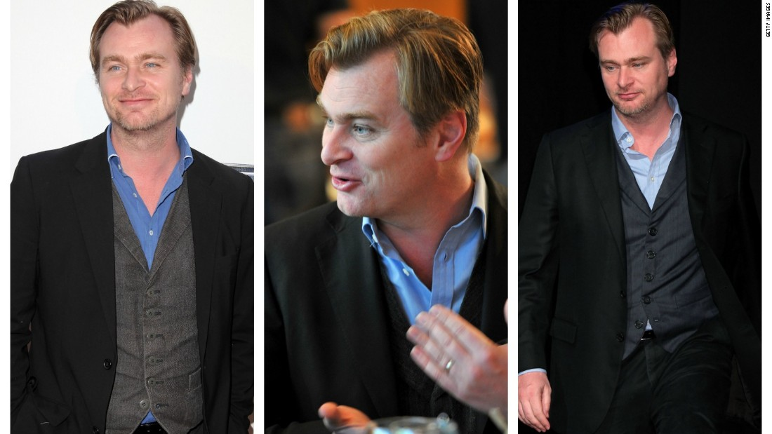 """Interstellar"" director Christopher Nolan favors a blue shirt and blazer.   According to a 2014 profile in the New York Times Magazine:  ""He long ago decided it was a waste of energy to choose anew what to wear each day."""