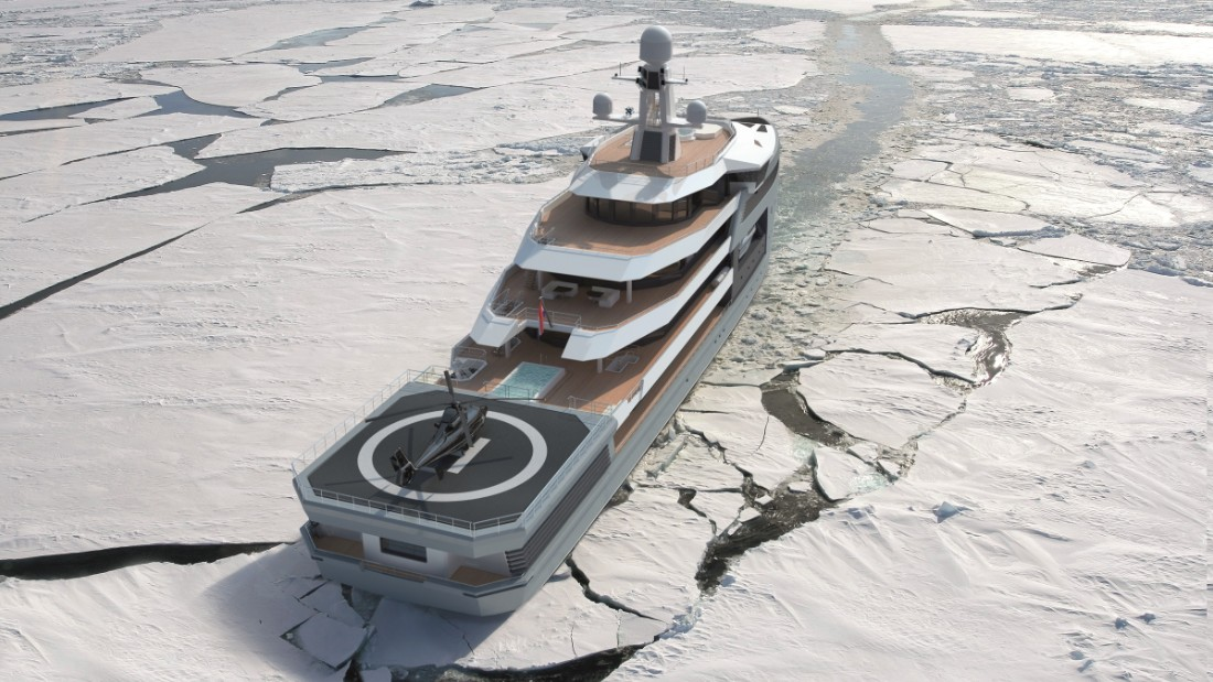 "Vessels breaking their way through Antarctic ice may be nothing new -- but for a luxury ship, it's unheard of. The SeaXplorer, however, is able to break new ground. Its designers say the patented Sea Axe double-acting hull means it can thrust through challenging ice up to a meter thick -- a result of <a href=""https://vimeo.com/140630765"" target=""_blank"">thousands of hours invested into research and development.</a>"