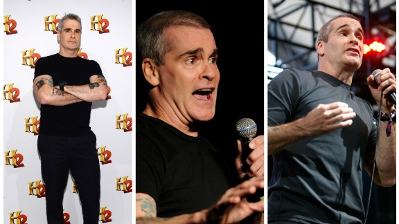 """Singer Henry Rollins has no time for clothes. """"Getting dressed up means wearing a black T-shirt and some really basic dark pants ... The more time you spend worrying about clothes, the less time you have to grab life by the balls,"""" he scrawled in Philadelphia Weekly in 2010."""