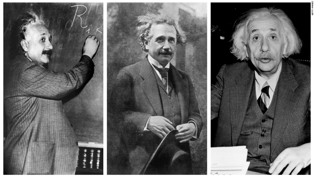 In his later years, Albert Einstein often wore the same gray suit.