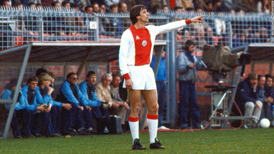 "Johan Cruyff is arguably the greatest player produced by Ajax and the three-time Ballon d'Or winner epitomized the idea of ""Total Football."""
