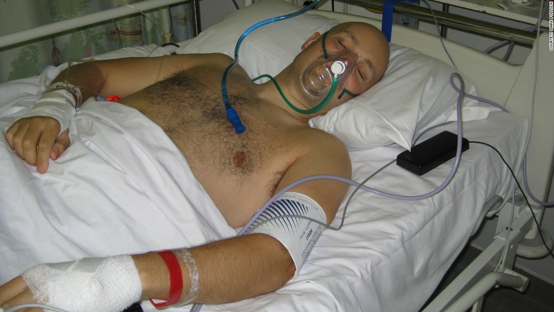 Mark spent 16 months recovering in the intensive care unit after his fall from a second-story window in London in the summer of 2010. The accident left him paralyzed from the waist down.