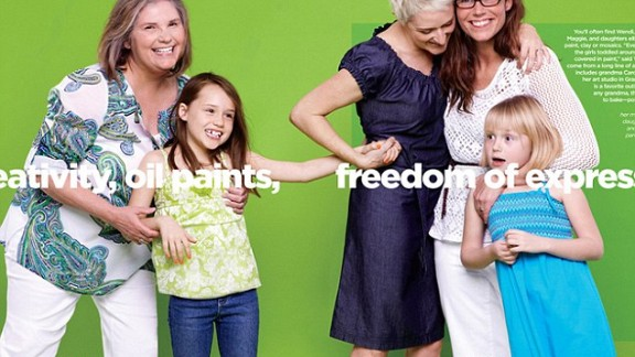 "When retail behemoth JCPenney appointed Ellen DeGeneres as their brand ambassador in 2012, it marked a seminal shift in attitudes to lesbian women, often rendered completely invisible in mainstream representation. For their 2012 Mother's Day campaign, they featured ""Wendi and her partner Maggie and daughters,"" with both women wearing wedding bands, which placed a lesbian couple in the spotlight as mothers to be celebrated."