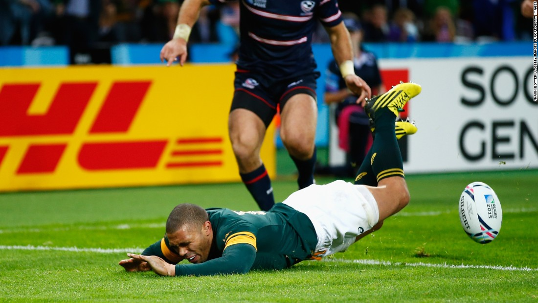 The 32-year-old could have surpassed Jonah Lomu's record of 15 overall in the 68th minute, but spilled the ball after he was over the American tryline.