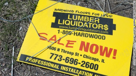 The flooring was made in China and sold by Lumber Liquidators.