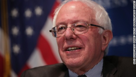 WASHINGTON, DC - MARCH 09:  U.S. Sen. Bernie Sanders (I-VT) waits to be introduced prior to his address to a National Press Club Newsmaker Luncheon March 9, 2015 at the National Press Club in Washington, DC. Sen. Sanders spoke on his life, his political career and his beliefs.  (Photo by Alex Wong/Getty Images)
