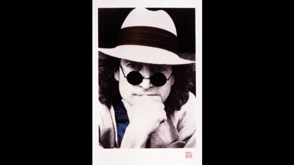 """Nishi F. Saimaru, who was a personal assistant and photographer for the Lennons from 1976 to 1979, took this portrait of Lennon around 1977. <a href=""""http://johnlennonartworks.com/collections/commemorative-portraits/"""" target=""""_blank"""" target=""""_blank"""">Lennon described it as his favorite. </a>"""