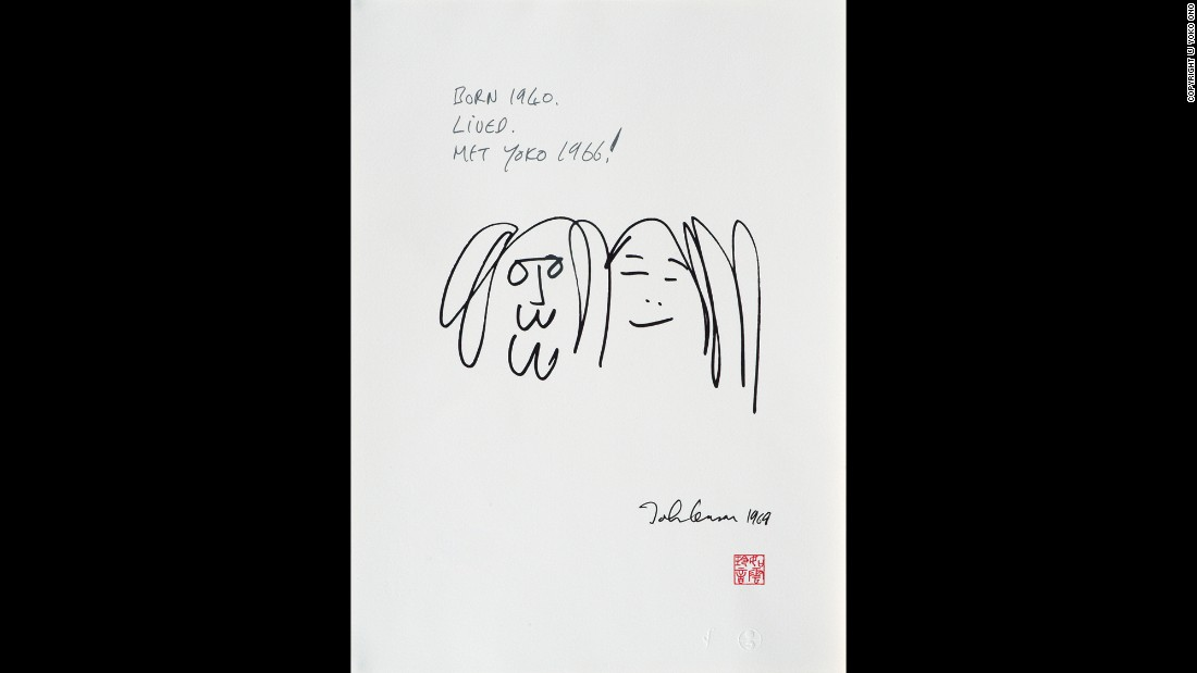 "<a href=""http://www.beatlesbible.com/1966/11/07/john-lennon-meets-yoko-ono/"" target=""_blank"">John met Yoko in November 1966</a> at the Indica, a London gallery where Ono was exhibiting her work. Lennon was particularly impressed by a piece in which the visitor climbed a ladder and looked through a magnifying glass at a painting. On it was a word in tiny letters: ""Yes."" ""So it was positive. I felt relieved,"" Lennon recalled later."