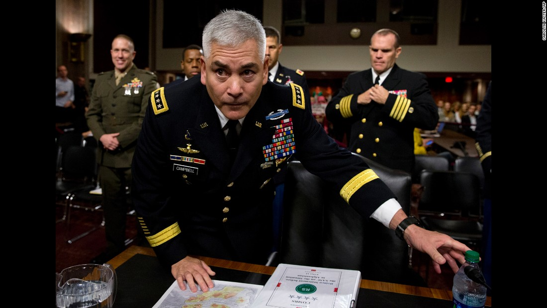 "The top commander of U.S. forces in Afghanistan, Gen. John Campbell, told the Senate Armed Services committee on Tuesday, October 6, that he needs to <a href=""http://www.cnn.com/2015/10/06/politics/afghanistan-hospital-general-campbell/"" target=""_blank"">adjust troop level</a> recommendations to respond to the growing strength of ISIS and al Qaeda."