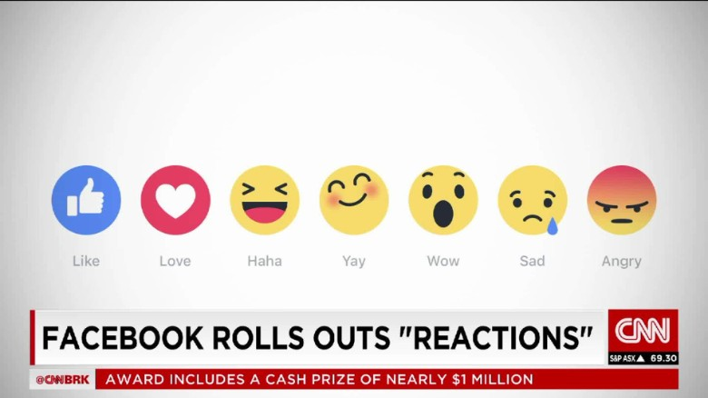 "Facebook goes beyond the Like button with ""Reactions"""