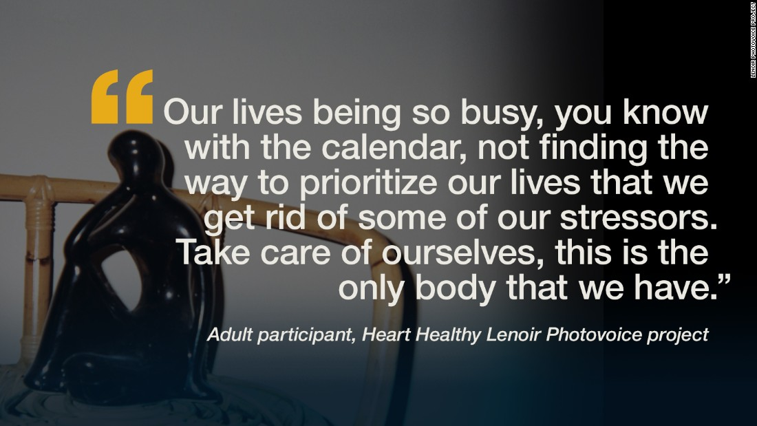 "Researchers assigned 15 participants from the rural, low-income community of Lenoir County, North Carolina, to take pictures of what ""cardiovascular health"" means to them and their community. These are their images and words."