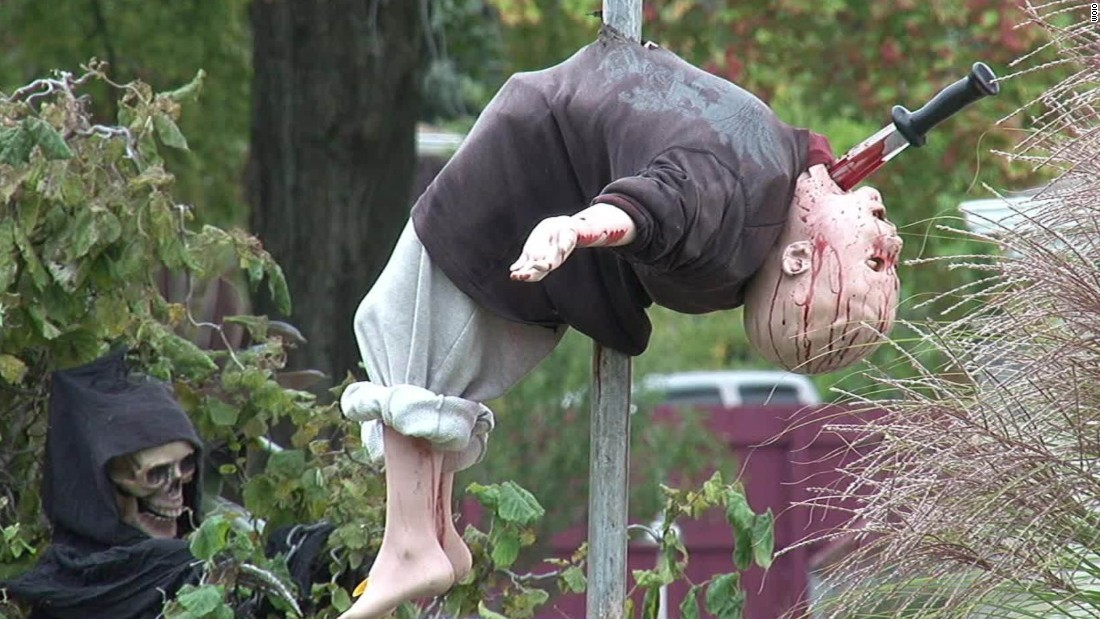 Is Halloween display too scary for kids? - CNN Video