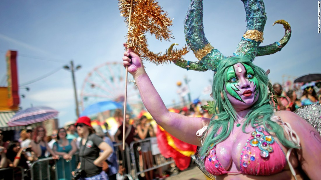 "Mermaids have also inspired celebrations. Since 1983, Coney Island has held its annual mermaid parade, an event the  organizers call ""a celebration of ancient mythology and honky-tonk rituals of the seaside."""