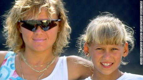 Kournikova's mother Alla, pictured, was a huge influence in her career, relocating the family from Russia to the U.S. for training. Kournikova's half-brother Allan, 11, is a budding golf star.