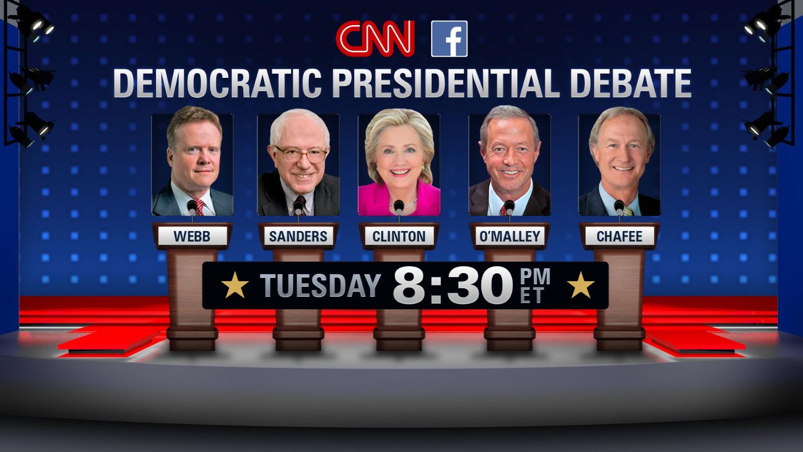democratic debate 2015 cnn releases podium order cnnpolitics