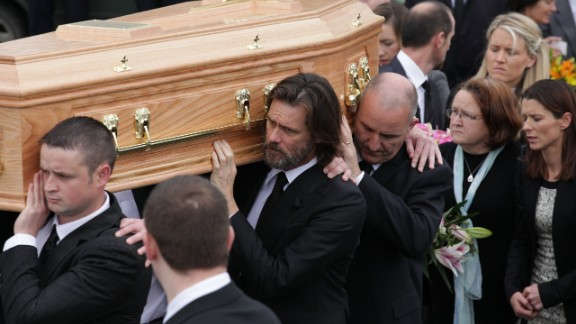 Jim Carrey attends the funeral of Cathriona White on October 10, 2015, in Cappawhite, Tipperary, Ireland.  (Photo by Debbie Hickey/Getty Images)