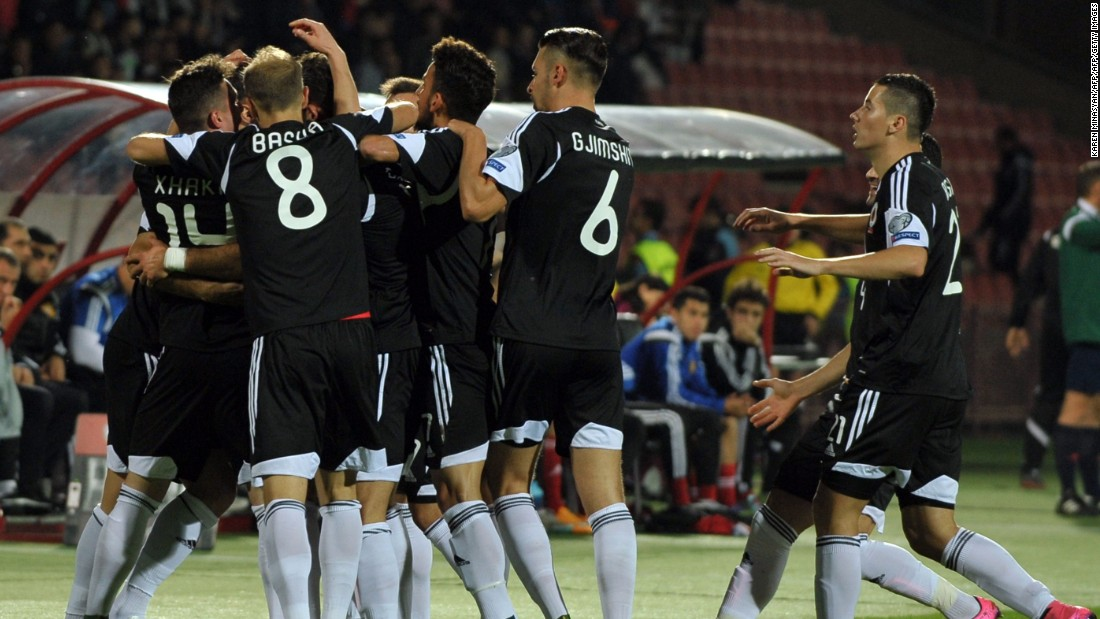 Albanua secured qualification with a 3-0 win in Armenia. An own goal by Kamo Hovhannisyan gave Albania the lead before goals from Berat Djimsiti and substitute Armando Sadiku got the party started.
