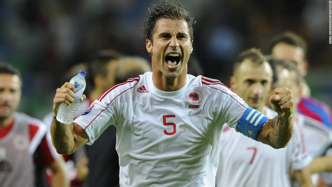 Lorik Cana is one of Albania's most famous players. Cana, who captains the team, plays for French side Nantes, while his previous clubs include Paris Saint-Germain and Lazio.