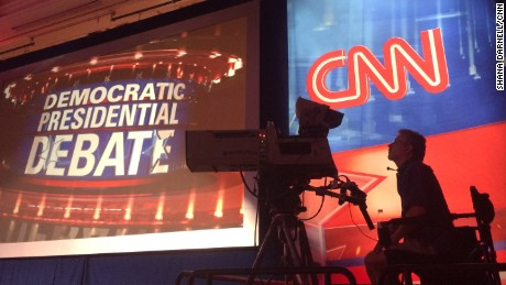 Las Vegas, Nevada: The CNN Democratic  Debate at The Wynn Hotel Las Vegas.