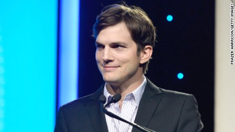 Actor Ashton Kutcher speaks at the Human Rights Watch Voices For Justice Dinner in 2013.