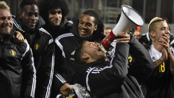 Belgium secured automatic qualification with a game to spare, and will be one of the teams to watch at the tournament. The 2014 World Cup quarterfinalist's squad contains many English Premier League stars -- including Eden Hazard, who was The Red Devils' joint top scorer with five goals.