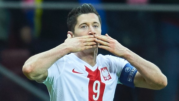 An inspired Robert Lewandowski helped Poland book its place at Euro 2016. The forward's record-equaling 13th goal of the campaign secured his country second place in Group D. Poland will be hoping Lewandowski can propel it out of the group stage for the first time in its history. The Bayern Munich striker has smashed 25 goals for club and country this season.